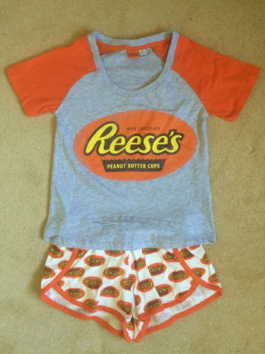 e48d65e7d968 Reeses-Peanut-Butter-Cups-Chocolate-Pyjamas-Sets-Shorts-Womens-Primark- Pajamas