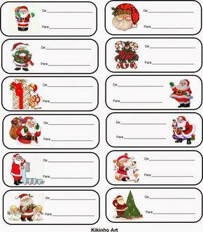 Kikinho Art: Etiquetas de Natal Mais