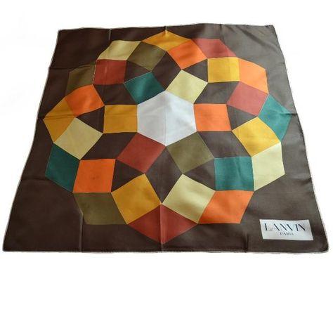 052460788f6 LANVIN Paris Foulard en soie brochée Motif OP ART vers 1970 ART CINETIQUE  silk scarf vintage  Lanvin  Lanvinscarf  cinetique  opart  vintagesilkscarf  ...