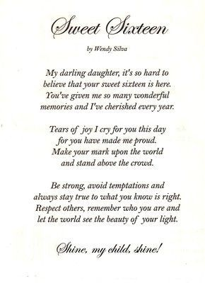 Picture 27 Of 31 Daughter Love Quotes Sweet 16 Quote Poem To My Daughter