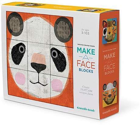 Crocodile Creek 9 Piece Block Puzzle Make A Face Animal Crocodile Creek Blocks For Toddlers Unique Childrens Toys