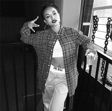 Karrueche Tran dressed as a chola