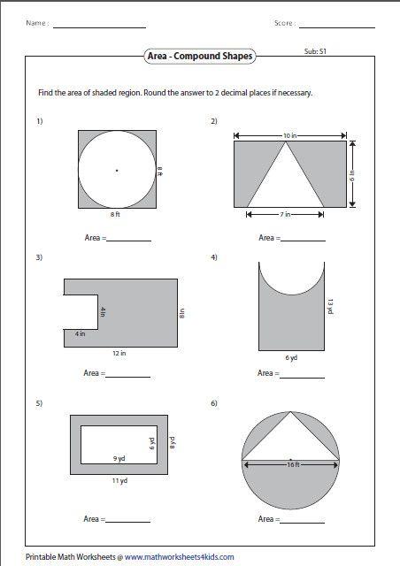 Area Worksheets Area Worksheets Area And Perimeter Worksheets Shapes Worksheets