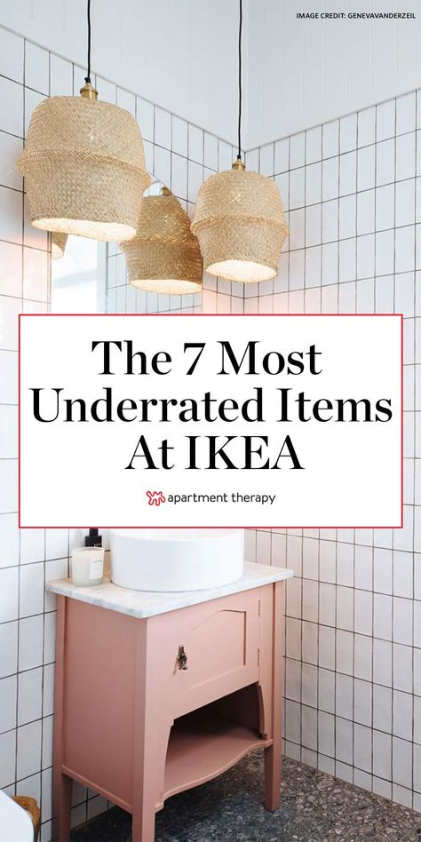 These are the 7 most underrated items at IKEA, according to expert-level DIYers. #ikea #ikeahacks #ikeafinds #ikeaprojects #affordabledecor #DIY #diyprojects #diyhomedecor