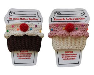 Re-Usable Crochet Coffee Cup Cozies $20