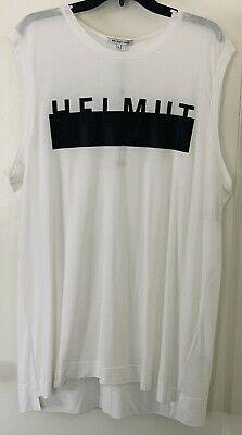 Nwt Helmut Lang White Extra Large Men S Unisex Logo Muscle Tee Muscle Tees Helmut Lang Muscle T Shirts