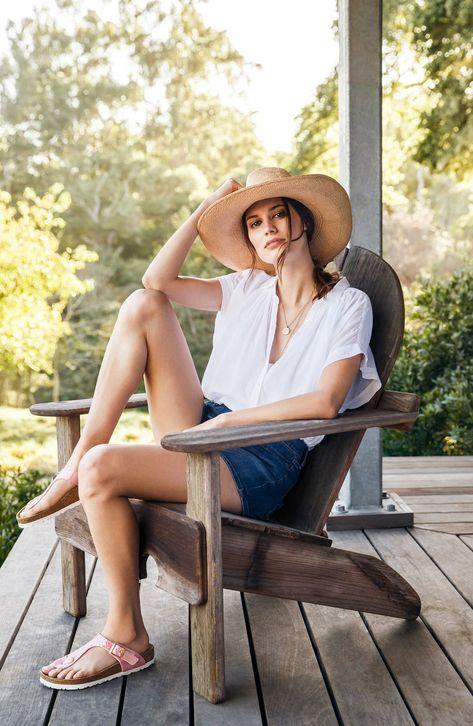 Women's Birkenstock Gizeh Birko-Flor™ Thong, Size 9-9.5US / 40EU D - White