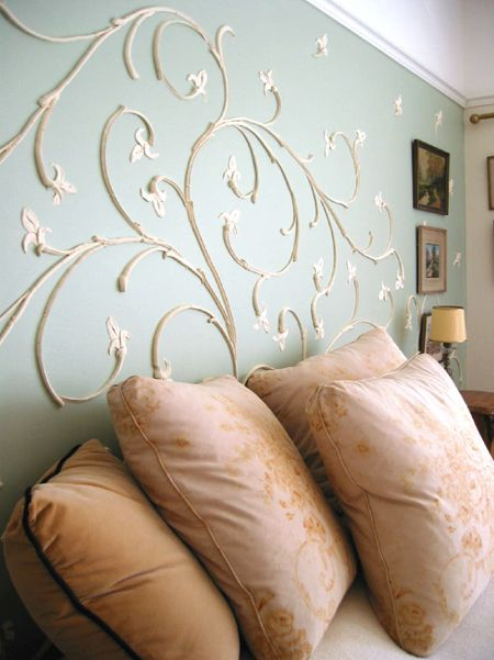 inspiration raised plaster wall design Joint Compound DIY