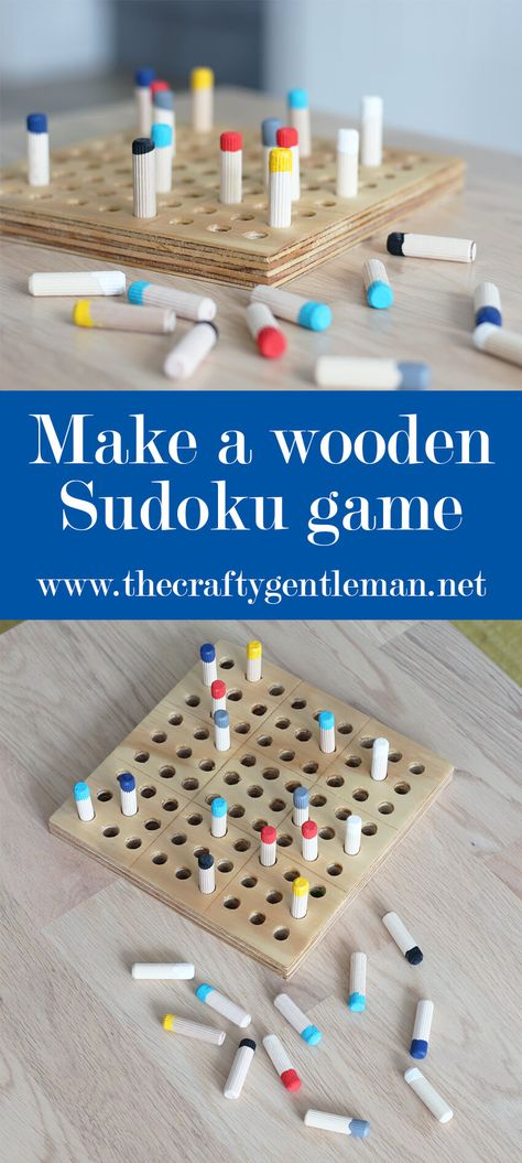 DIY Wooden Sudoku Game | Woodworking Projects | The Crafty Gentleman