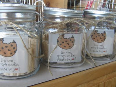Cute teacher gift - I'm one smart cookie, thanks to you!