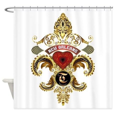 T Monogram Nola Shower Curtain By Digital Art Expressions In 2020
