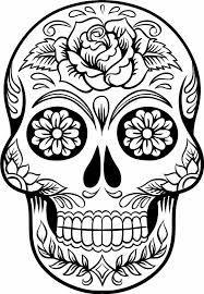 Resultado De Imagem Para Caveira Mexicana Para Imprimir E Colorir