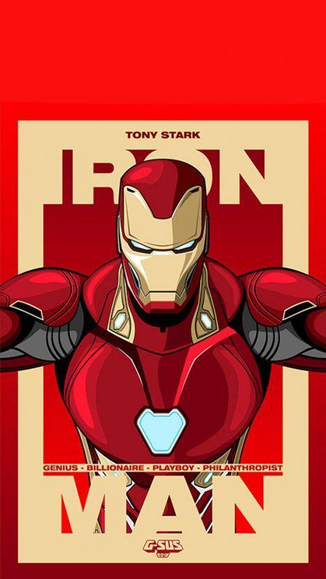 Tony Stark Iron Man Iphone Wallpaper Getintopik Marvel