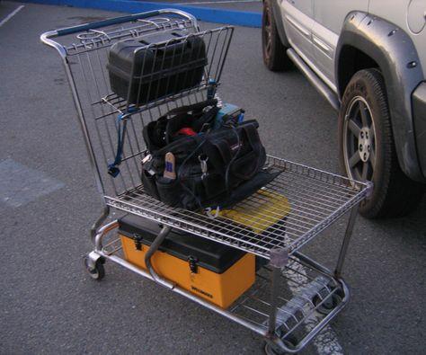 Chop a Shopping Cart Into a Tool Cart. Simple!