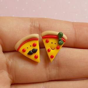 Cute Earrings Food Jewelry Pizza Slice Earrings Teeny Tiny Earrings