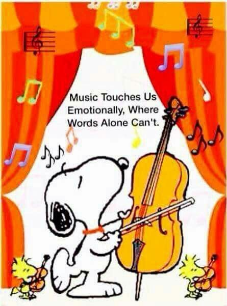 SNOOPY MUSIC TOUCHES US EMOTIONALLY