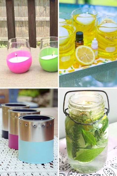 Easy homemade mosquito repellent recipes for yard and home. Try these non toxic mosquito repellent with vinegar, essential oil, candles and sprays.
