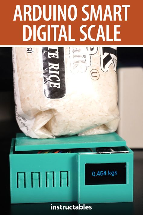 mcmchris designed this smart digital scale to work with an ESP8266, programed with Arduino, and it has a 3D printed enclosure. #Instructables #electronics #technology #kitchen #cooking
