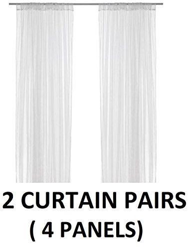Ikea Lill Sheer Curtains 4 Panels 98 X 110 2 Curtain Pai Https