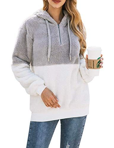 Women Ladies Loose Hooded Long Sleeves Sweater Knitted Warm Sweatshirts Clothing