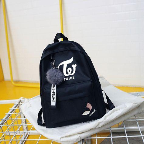Kpop Stray Kids Nylon Backpack School Satchels Casual Laptop with USB Jack Hole