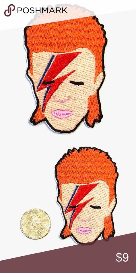 David Bowie Iron On Patch Retro Ziggy Stardust Badge//Applique//Transfer Sew