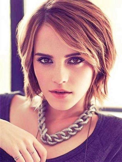 Emma Watson Kurze Frisuren Frisuren Kurz Frisur Dicke