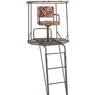 Guide Gear 20 Double Rail 360 Swivel Ladder Tree Stand In 2020 With Images Ladder Tree Stands Ladder Stands Ladder