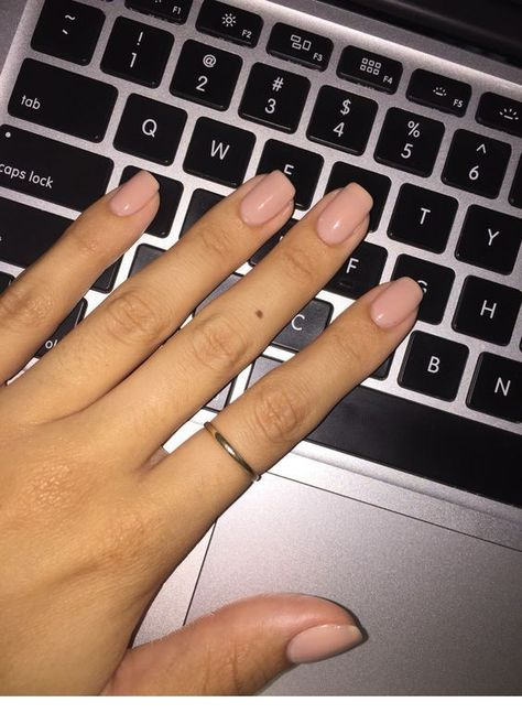 Pink nails and simple ring | Inspiring ladies - #inspiring #ladies #nails #simple - #Genel