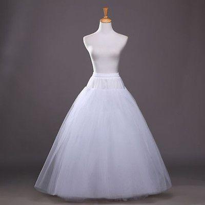 New A Line White Hoop Long Petticoat Underskirt Slip Crinoline Prom Wedding Petticoat For Wedding Dress Ball Gowns Wedding Crinoline Wedding Dress