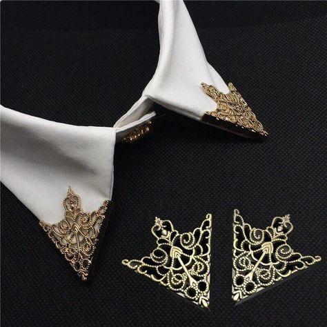 gothic victorian collar tips Lestat - Diy Jewelry Vintage Retro Shirts, Vintage Shirts, Vintage Outfits, Jewelry Stores, Jewelry Sets, Man Jewelry, Silver Jewelry, Silver Ring, Body Jewelry