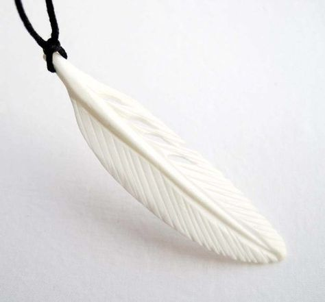 Ox Bone Carved Feather Pendant Necklace Jewelry Amazon Com Carving Bone Carving Feather Pendant Necklace
