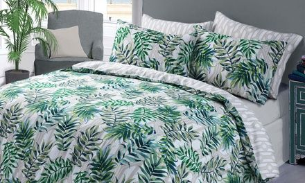 Easy Care Polycotton Duvet Cover Set With Pillow Cases
