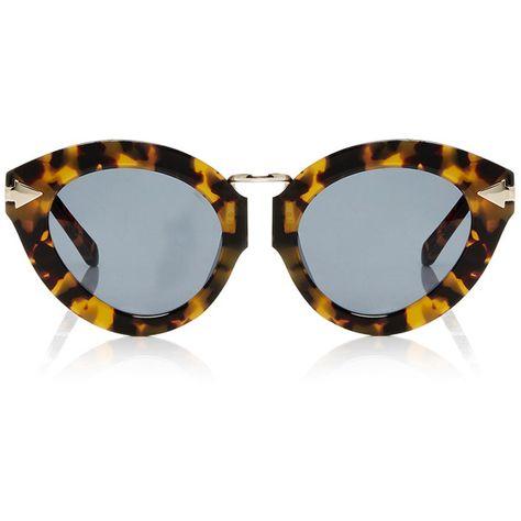 46e2bb1d46f7 Karen Walker Lunar Flowerpatch Sunglasses ($300) ❤ liked on Polyvore  featuring accessories, eyewear