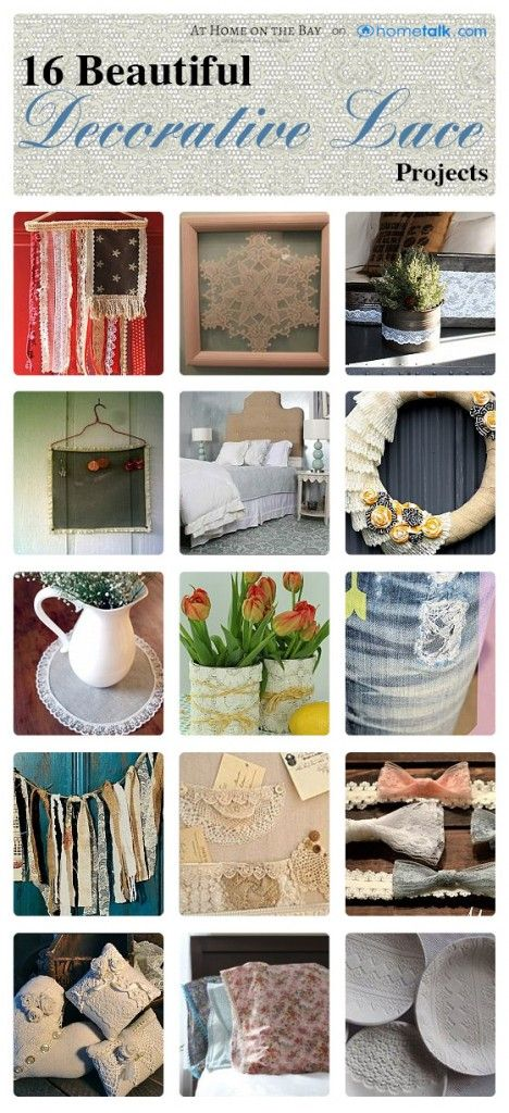 16 {Lovely Lace} Projects | curated by 'At Home on the Bay' blog!