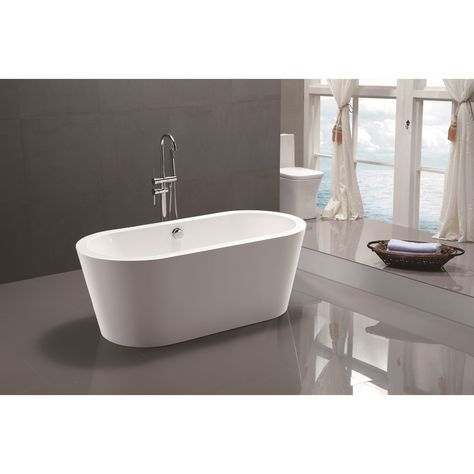 Vanity Art 67 7 Inch Freestanding Acrylic Bathtub Stand Alone