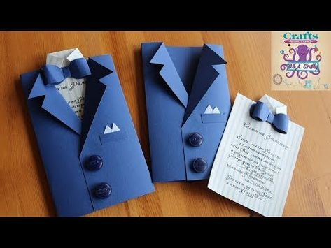 DIY: How to make Invitation card for wedding , graduation or different occasion TUTORIAL - YouTube