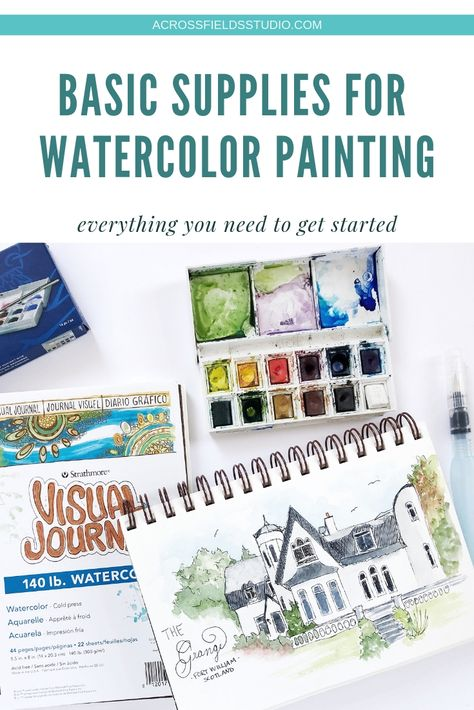 Basic Watercolor Supplies For Beginners Watercolor Happy