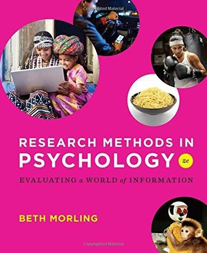 Download Pdf Research Methods In Psychology Evaluating A World Of Information Research Methods Psychology Psychology Student