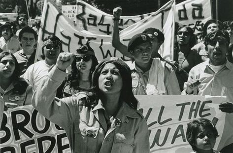 The Brown Berets. The meaning of Chicano Power is rooted in the civil rights movement. In the Chicanos and Blacks marched the streets shouting Chicano Power and Black Power. They sought to challenge the status quo and build power within their communi Mexican American, American History, British History, Native American, Chicano Love, Chicano Art, Victor Hugo, Brown Pride, Civil Rights Movement