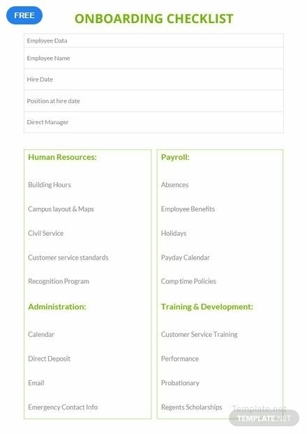 Onboarding Checklist Template Free Pdf Word Doc Apple Mac Pages Google Docs Onboarding Checklist Checklist Template Onboarding