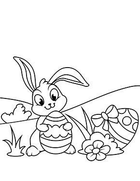 Osterhase Mit Ostereiern Zum Ausmalen Ausmalbilder Malvorlagen Ostern Osterhase Kindergarten Osterhase Ostern Farben Kostenlose Ausmalbilder