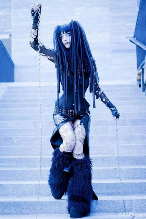 Another example of how variable black can be! With all of the layers in this cybergoth look, you can almost forget it's entirely monochromatic!