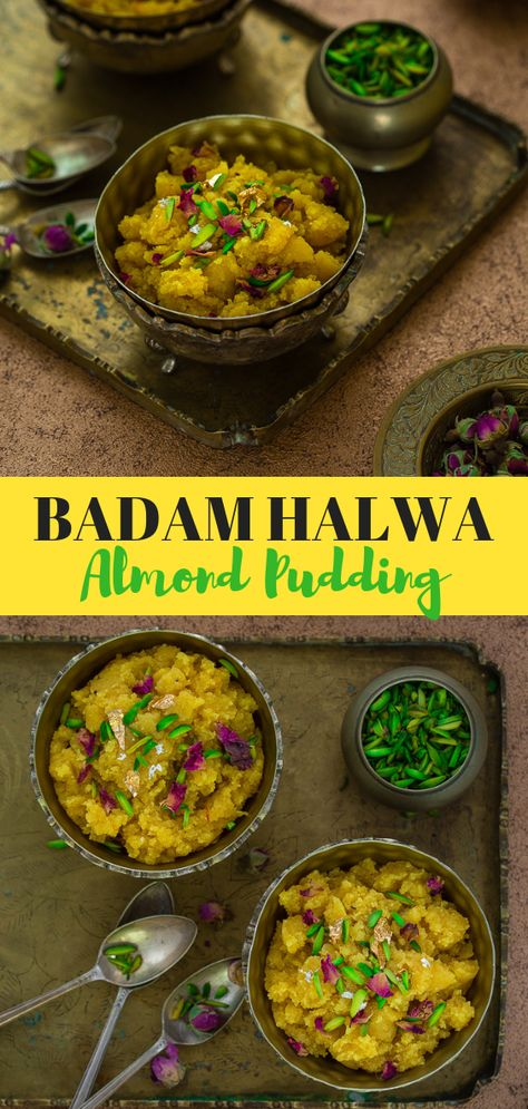 Badam Halwa {STEP_BY_STEP} recipe pictures.