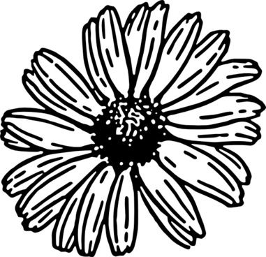 Daisy Free Vector Download 185 Free Vector For Commercial Use Format Ai Eps Cdr Svg Flower Coloring Pages Simple Flower Drawing Sunflower Coloring Pages