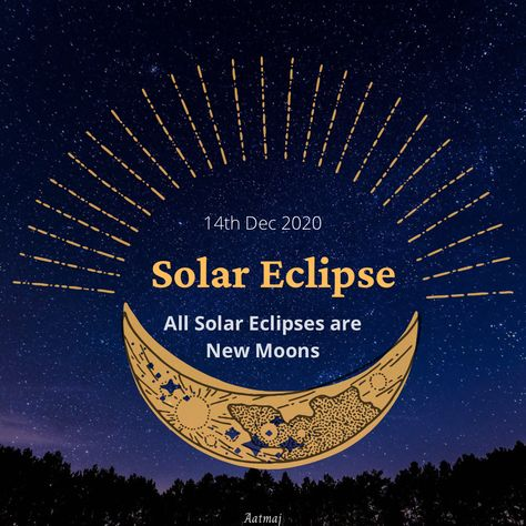 #SolarEclipse 🌝 🌚 When Sun and Moon Conjunct, it's New Moon day and when South Node (Ketu) also Conjuncts Sun and Moon , it's Solar Eclipse. All Solar Eclipses are New Moon Days or No Moon days. It's the Last Eclipse of 2020 and before start of new era of Age of Aquarius. As per vedic astrology Solar Eclipse in Scorpio and in Gandanta. As per Western Astrology, solar eclipse is in the sign of Sagittarius. #Sun #Moon #SouthNode #Ketu #Rahu #NorthNode #solareclipse #solareclipse2020 #eclips