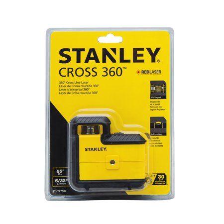 Stanley Stht77504 360 Degree Red Beam Cross Line Laser Level Walmart Com Laser Levels Red Beam Drywall Installation