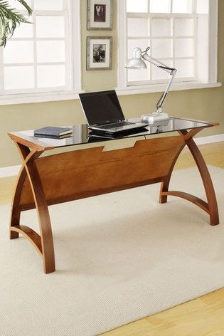 Buy Helsinki 1300 Walnut Laptop Table By Jual From The Next Uk Online Shop In 2020 Curved Furniture Furniture Bookcase Design