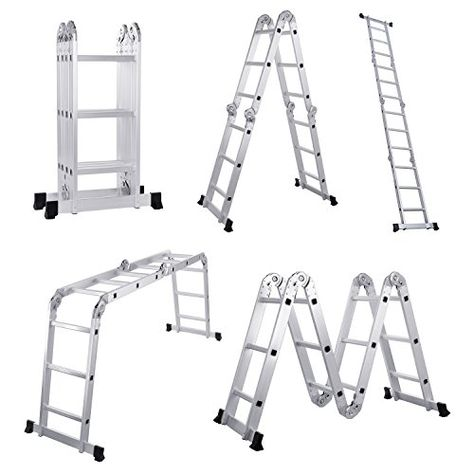 Lifewit 12 5ft Folding Ladder 3x4 Heavy Duty Multi Purpose Step Ladder Aluminum En131
