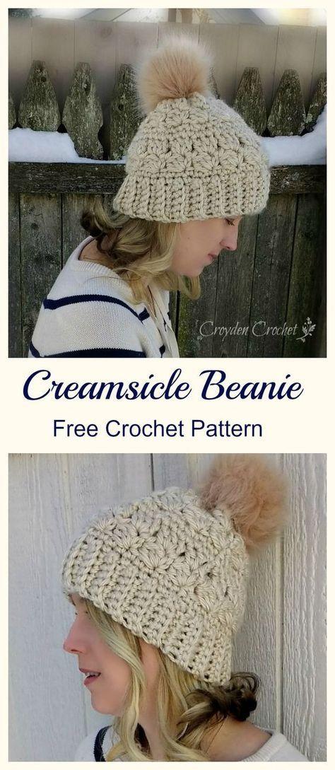 Cream-Sicle Cable Beanie